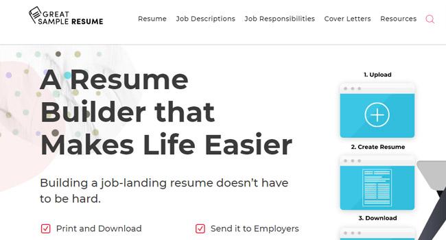 GreatSampleResume - Online CV Builder