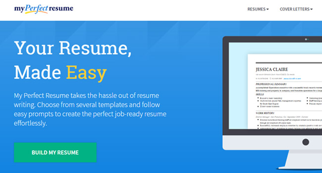 Best Free Resume Builder - MyPerfectResume