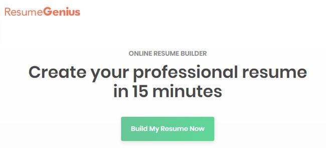 Best Free Resume Builder - ResumeGenius