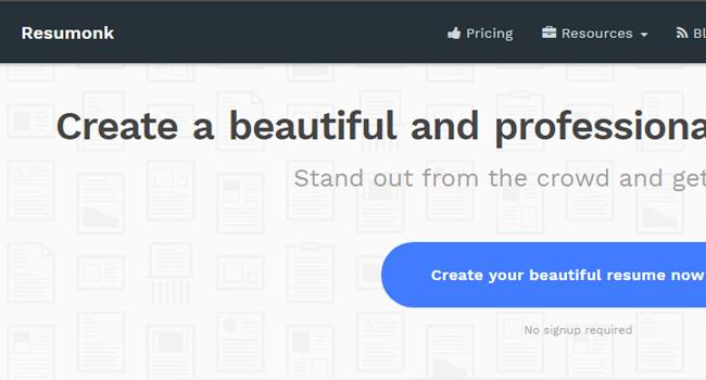 Resumonk - Best Free Resume Builder