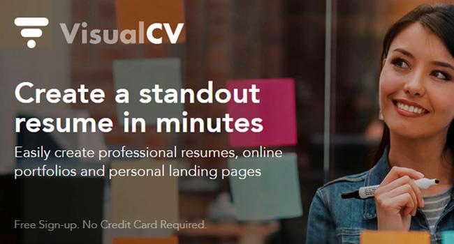 VisualCV - Best Free Resume Builder